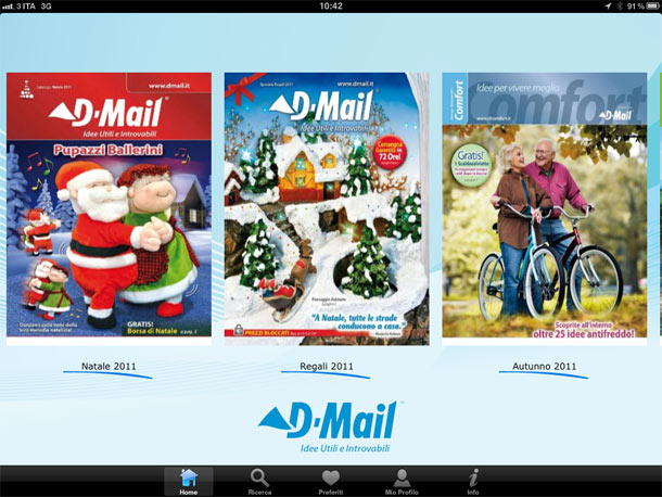 Arriva il catalogo d mail su ipad calmug for Dmail natale