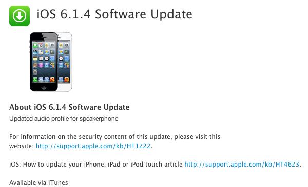 aggiornamentoios6.1.4