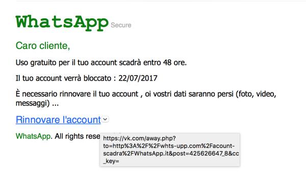 Messaggio con URL